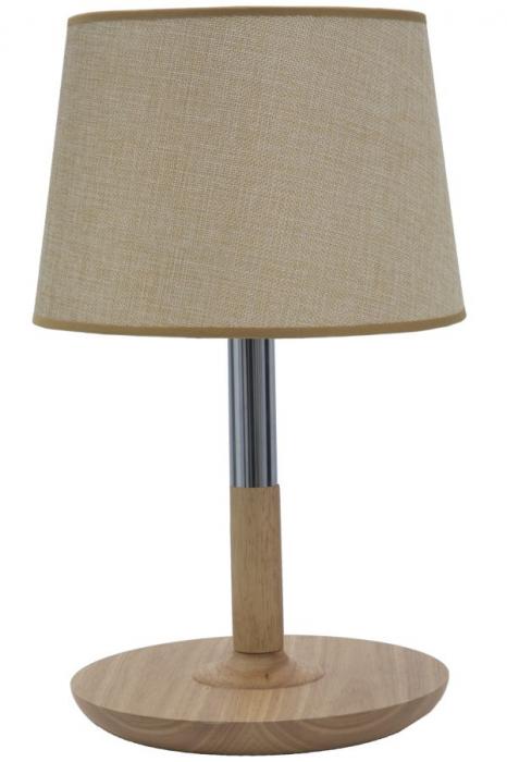 Lampa de masa WOODSTEEL O (cm) 25X42 imagine 2021 lotusland.ro