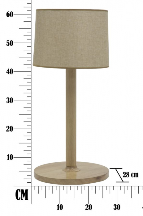 Lampa de masa WOODEN Ø (cm) 28X61 4