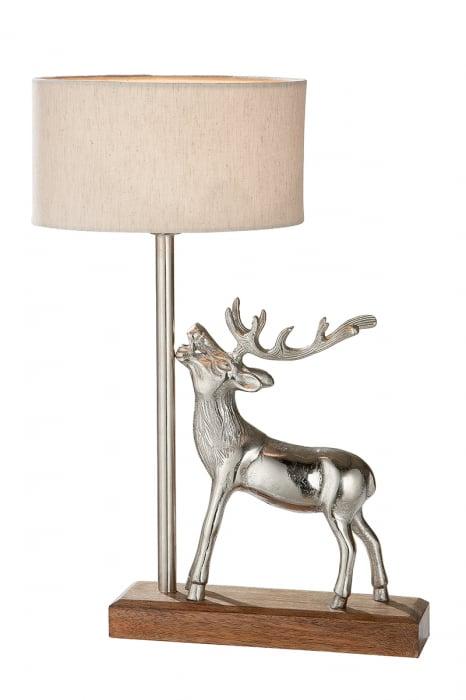 Lampa Deer, aluminiu, argintiu, 30x45x10 cm 2021 lotusland.ro