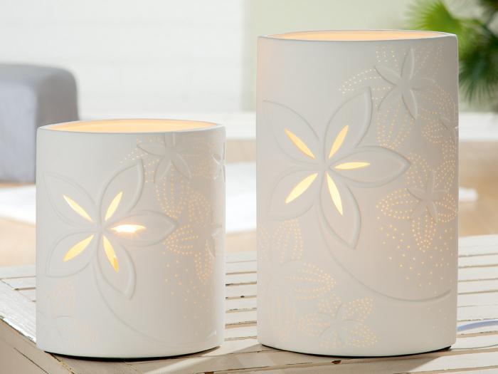 Lampa Ellip Lucky Moments, portelan, alb, 17x20x9 cm imagine 2021 lotusland.ro