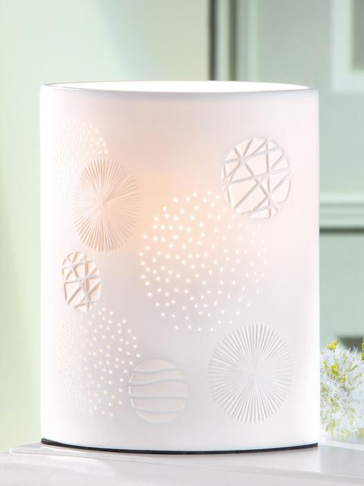 Lampa Ellipse Esfera, portelan, alb, 18x28x10 cm 2021 lotusland.ro