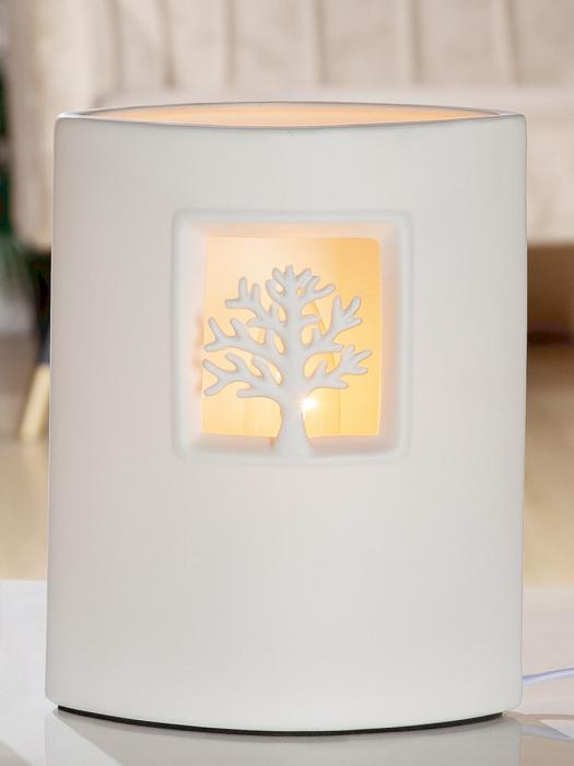 Lampa Ellipse Tree, portelan, alb, 17x21x10 cm 2021 lotusland.ro