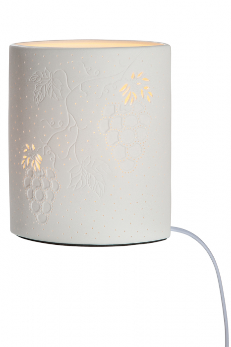 Lampa ELLIPSE WINE, portelan, 17 x 10 x 20 cm lotusland.ro