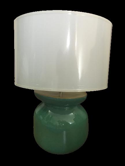 Lampa HERITAGE, ceramica, turquoise, 29x23.5 cm 2021 lotusland.ro
