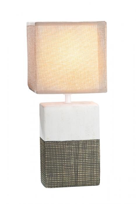 Lampa Marmoria Quader, ceramica, bej maro, 6,5x18x12 cm 2021 lotusland.ro