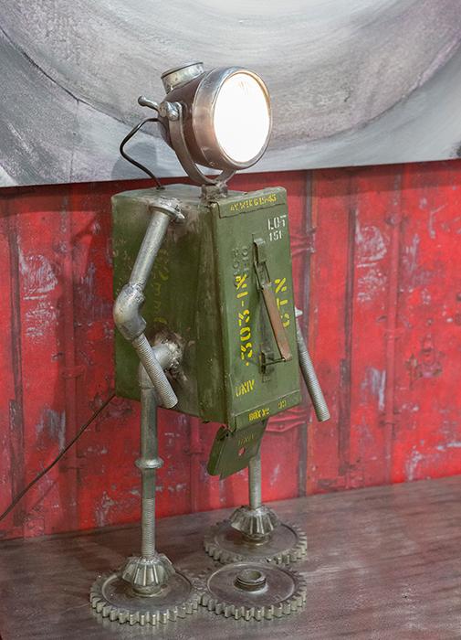 Lampa ROBOT, cu spatiu depozitare, metal, 72x32x22 cm 2