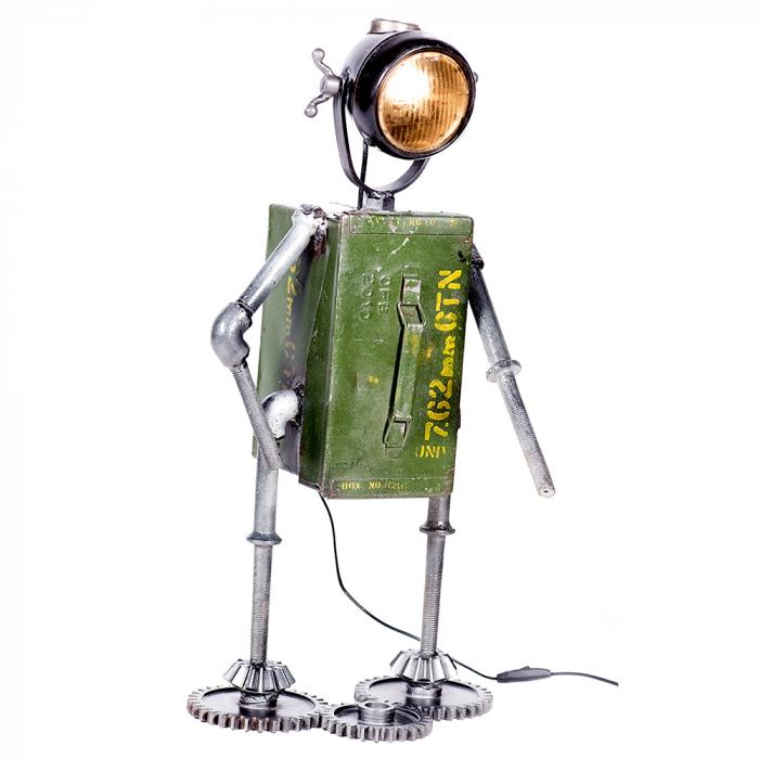 Lampa ROBOT, cu spatiu depozitare, metal, 72x32x22 cm 2021 lotusland.ro