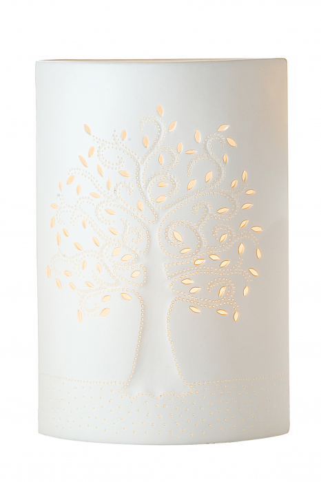 Lampa Tree, Portelan, Alb, 28 x 18.5 cm [0]