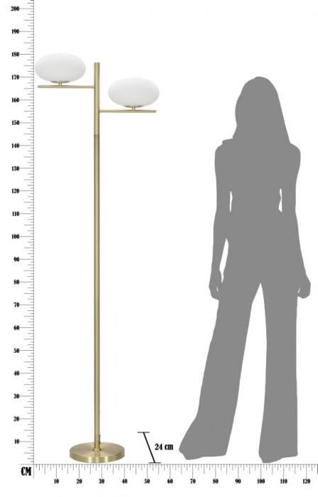 Lampadar   OVAL GLAMY (cm) 51x24x180 5
