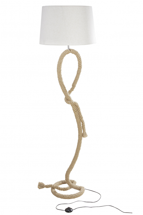 Lampa Rope Design , metal, crem, 170x48 cm 1