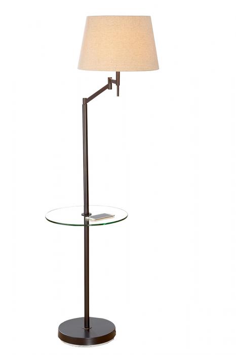 Lampadar TABLE ELASTICO, metal sticla, 60 x 40 x 160 cm 2021 lotusland.ro