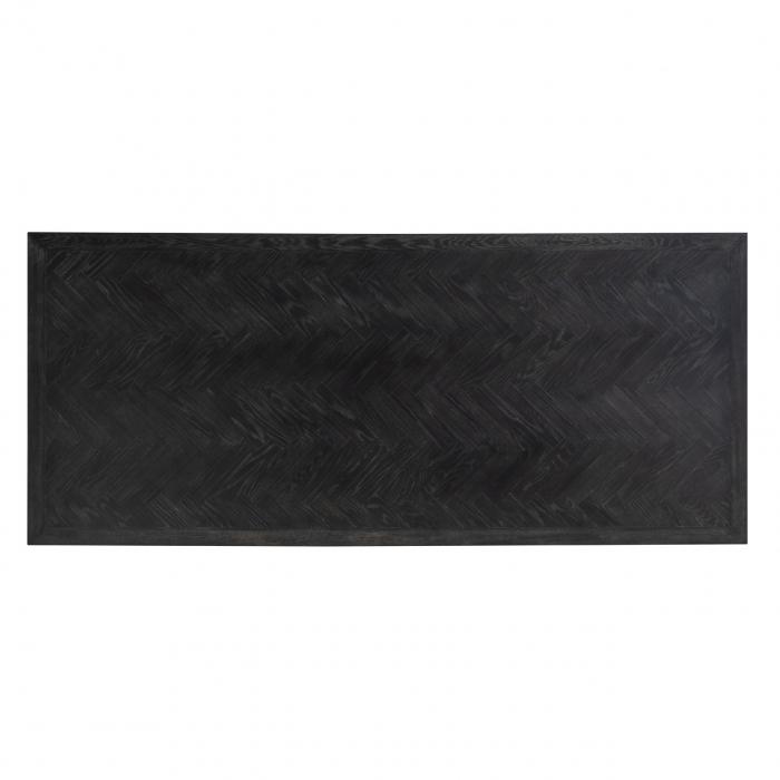 Masa Blackbone Matrix, Lemn/Otel inoxidabil, Negru/Auriu, 75x200x100 cm [2]