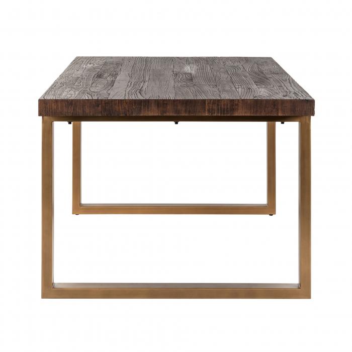 Masa Cromford Mill, Lemn/Metal, Maro/Bronz, 76x230x100 cm [4]