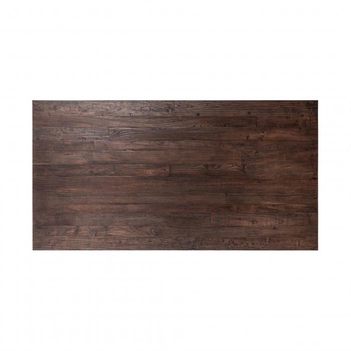 Masa Cromford Mill, Lemn/Metal, Maro/Bronz, 76x230x100 cm [1]