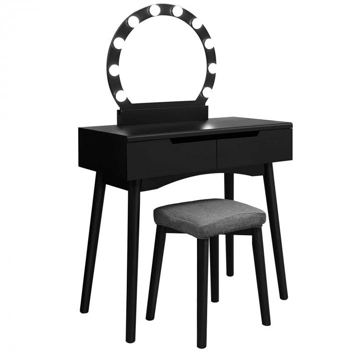 Masa de toaleta cu scaunel, MDF, 80 40 129cm, Songmics imagine 2021 lotusland.ro