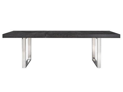 Masa extensibila Blackbone, Lemn/Otel inoxidabil, Argintiu/Negru, 76x265x100 cm [5]