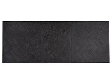 Masa extensibila Blackbone, Lemn/Otel inoxidabil, Argintiu/Negru, 76x265x100 cm [3]