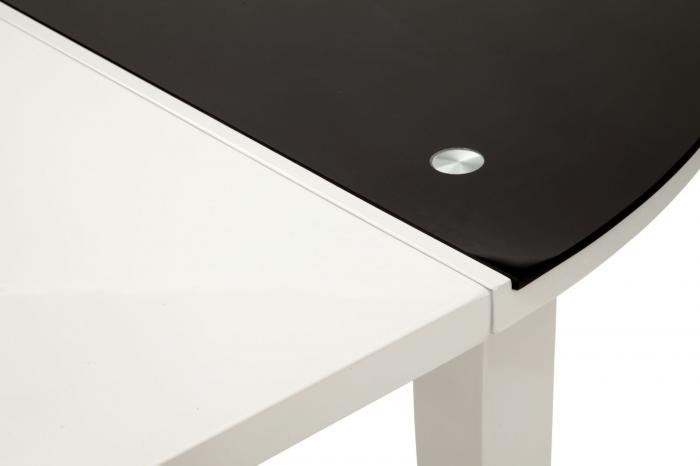 Masa rotunda extensibila, alb/negru, 100X75 cm, Mauro Ferretti 4