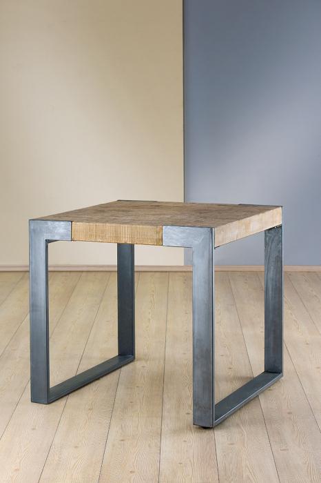 Masuta cafea TURIN, metal/lemn, 80x80x76 cm [0]