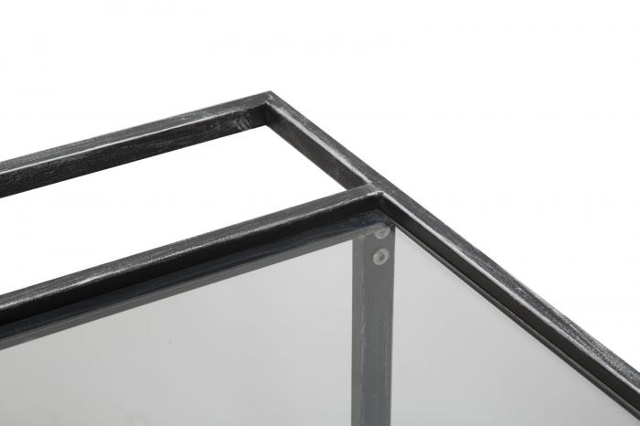 Masuta de servire pe roti GLASS (cm) 95X40X79,5 6