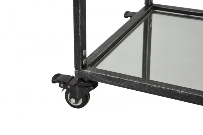 Masuta de servire pe roti GLASS (cm) 95X40X79,5 5