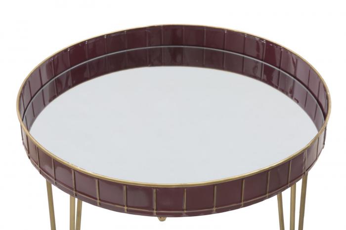Masuta GLAM BORDEAUX (cm) Ø 60X60 2