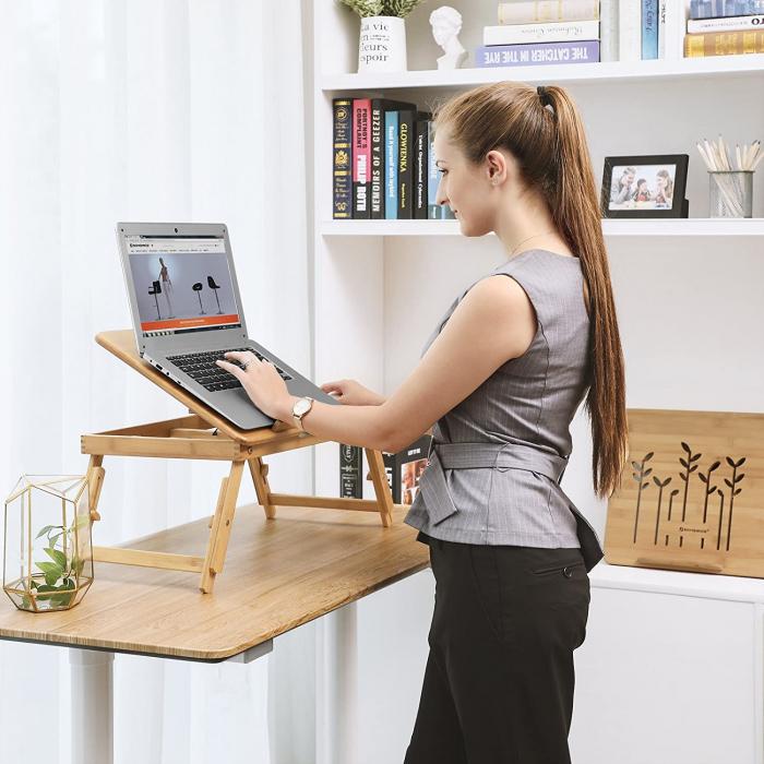 Masuta Laptop, bambus, 55x35x29 cm, nature 2