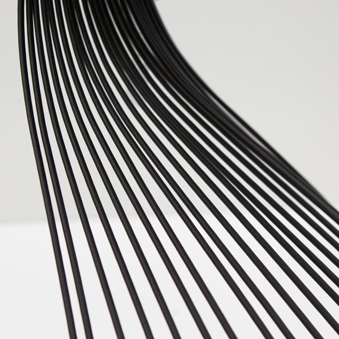 Masuta Ray metal/sticla, negru, 54x35 cm [2]