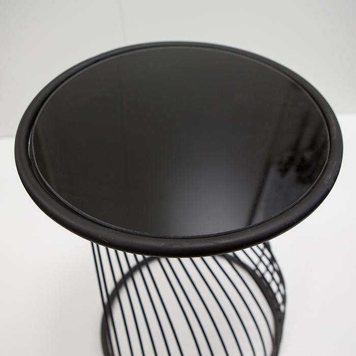 Masuta Ray metal/sticla, negru, 54x35 cm [4]
