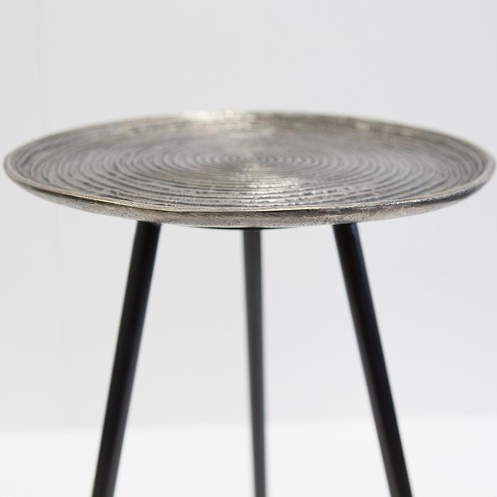 Masuta rotunda ORBA, aluminiu/nichel, 55x40 cm 2