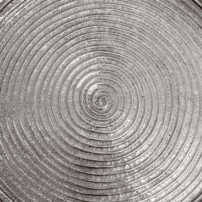 Masuta rotunda ORBA, aluminiu/nichel, 55x40 cm 4