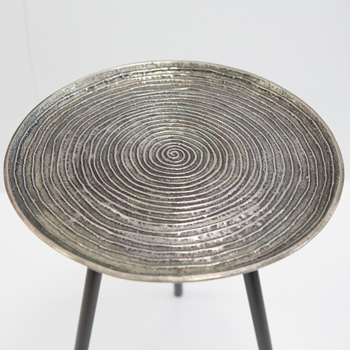 Masuta rotunda ORBA, aluminiu/nichel, 55x40 cm 1