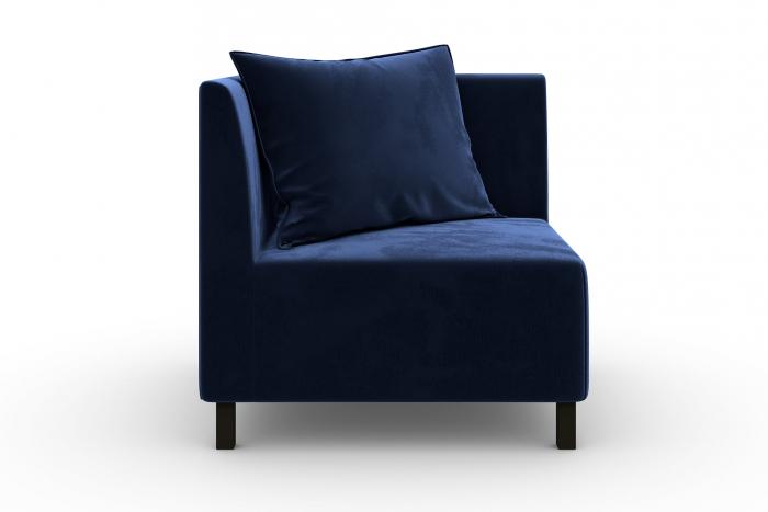 Modul de colt Tina, Albastru petrol, 88x82x88 cm 2