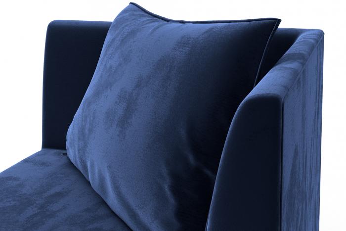 Modul de colt Tina, Albastru petrol, 88x82x88 cm 5