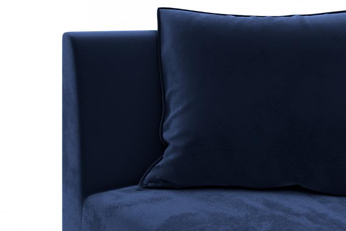 Modul de colt Tina, Albastru petrol, 88x82x88 cm 4