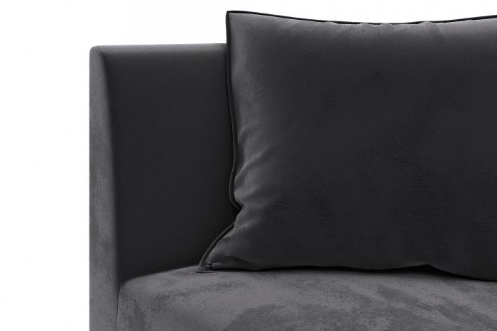 Modul de colt Tina, Gri inchis, 88x82x88 cm 4