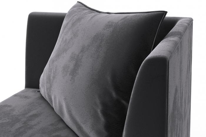 Modul de colt Tina, Gri inchis, 88x82x88 cm 5
