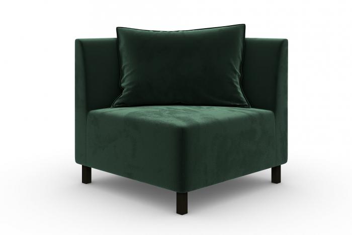 Modul de colt Tina, Verde inchis, 88x82x88 cm imagine 2021 lotusland.ro