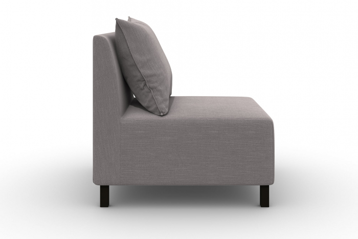 Modul de mijloc Tina, Gri, 105x82x88 cm 2