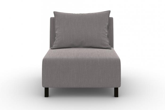 Modul de mijloc Tina, Gri, 105x82x88 cm 1