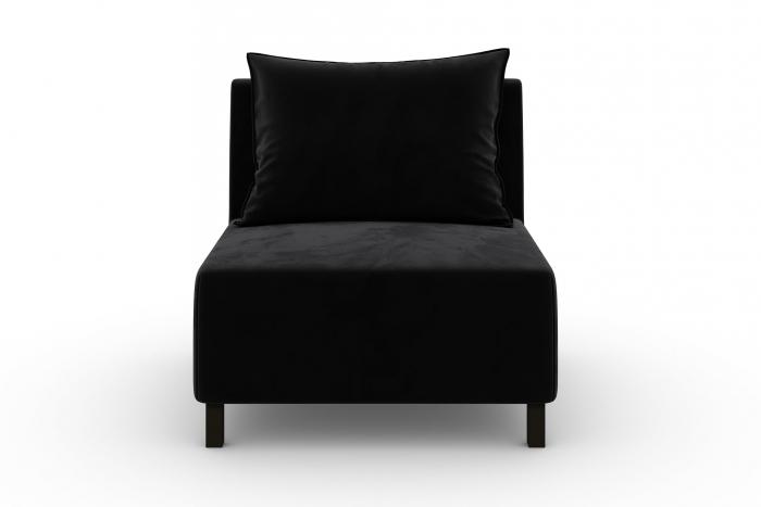 Modul de mijloc Tina, Negru, 105x82x88 cm 1