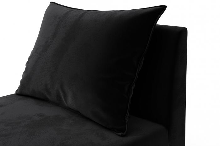 Modul de mijloc Tina, Negru, 105x82x88 cm 5