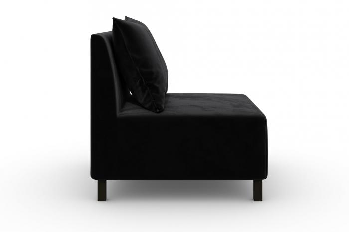 Modul de mijloc Tina, Negru, 105x82x88 cm 2