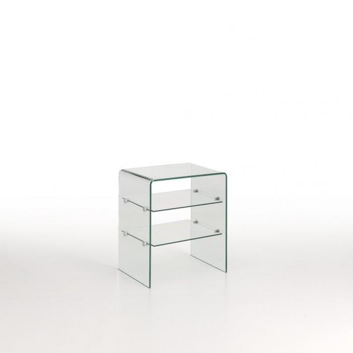 Noptiera CANCUN, Sticla, Transparent, 50x40x58.5 cm imagine 2021 lotusland.ro