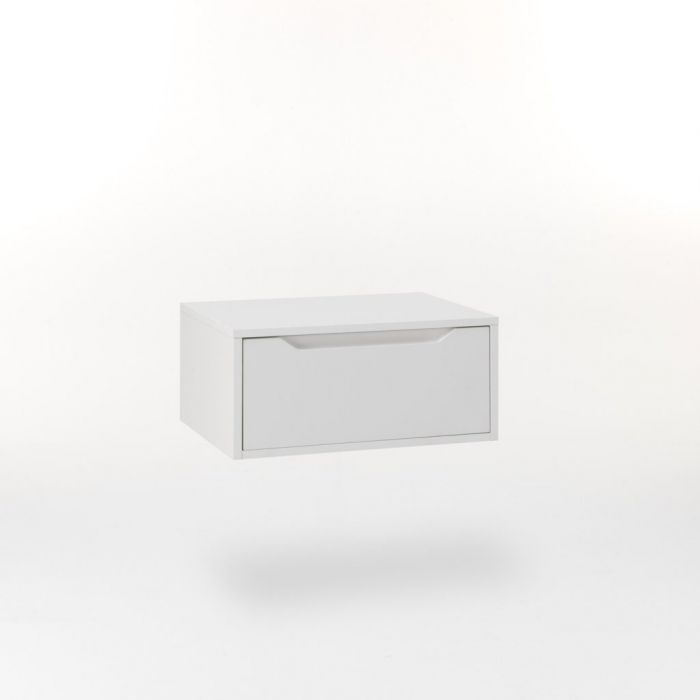 Noptiera suspendata BELSK, Melamina MDF, Alb, 60x45x27 cm imagine 2021 lotusland.ro
