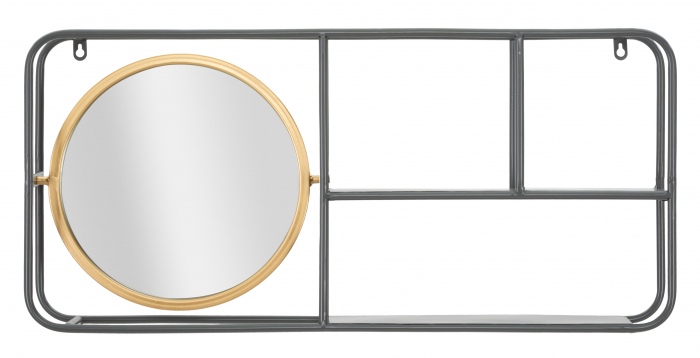 Oglinda rotunda cu rafturi INDUSTRY CM 74,5X12X35, Mauro Ferretti 0