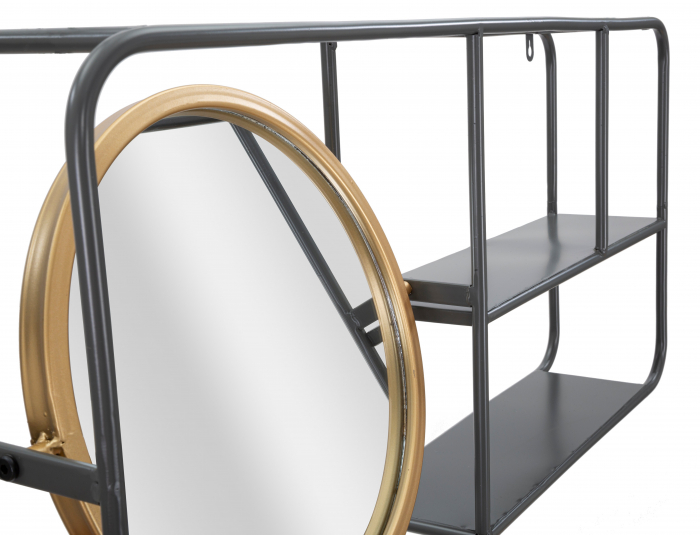 Oglinda rotunda cu rafturi INDUSTRY CM 74,5X12X35, Mauro Ferretti 2