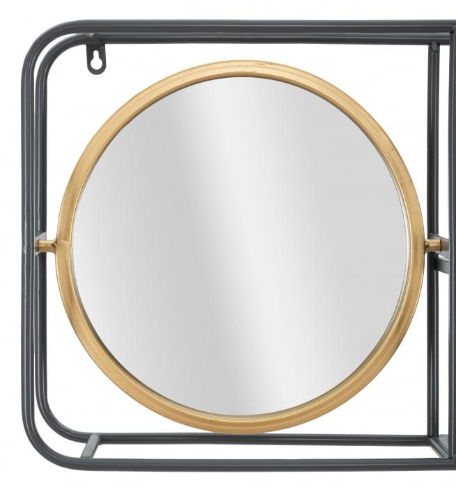 Oglinda rotunda cu rafturi INDUSTRY CM 74,5X12X35, Mauro Ferretti 4