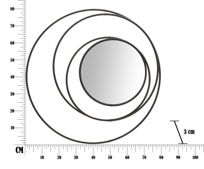 Oglinda DARK (cm) Ø 80X3 6