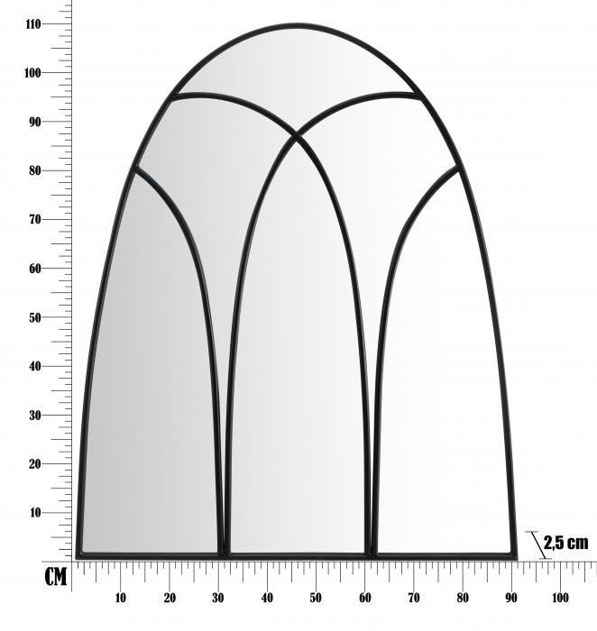 Oglinda DARK CM 90X2,5X110 (oglinda CM 87X108), Mauro Ferretti [5]